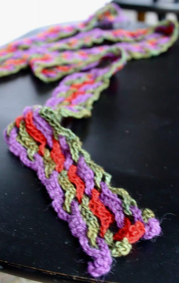 Interlocking Crochet Scarf 2