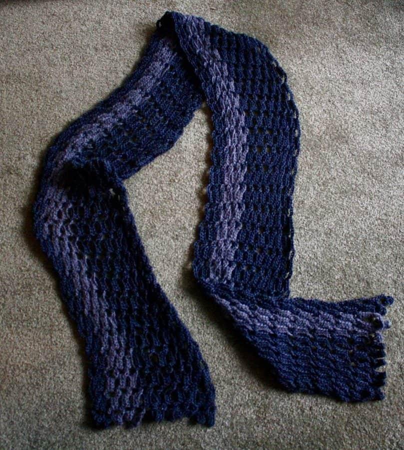 Interlocking Crochet Scarf Alpaca Black