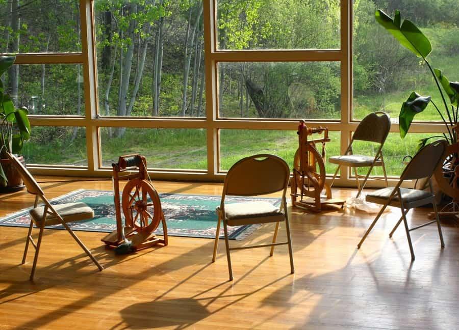 Men's Knitting Retreat Easton Main Room
