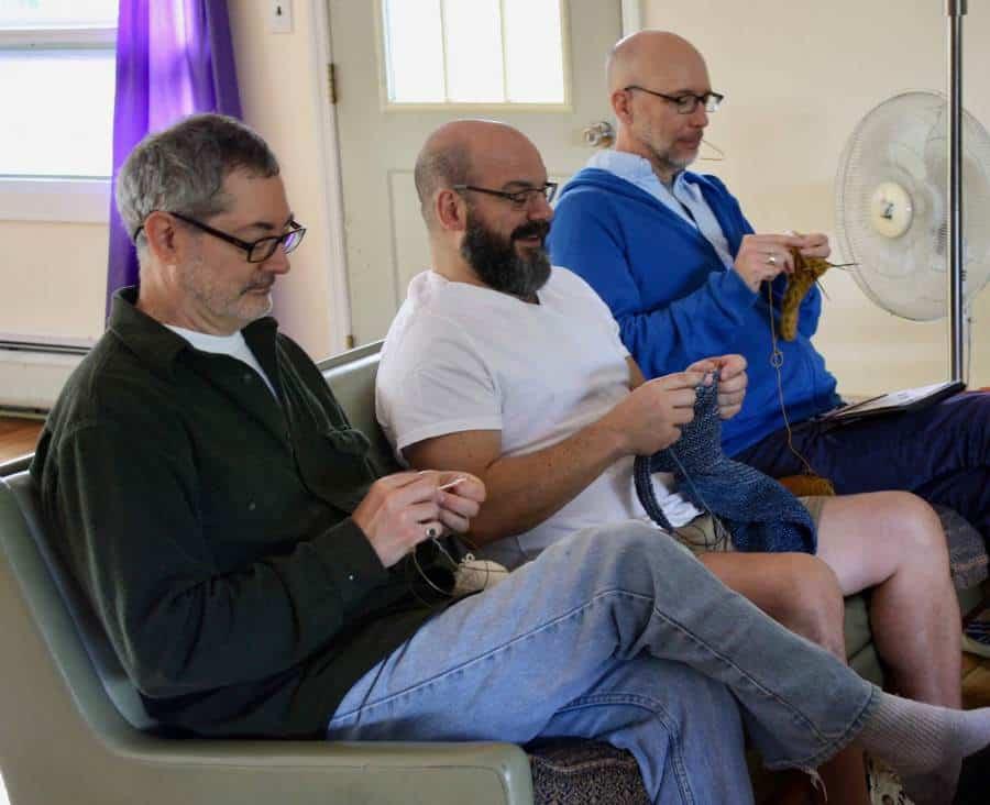 Mens Knitting MSKR 2018 Kirk Greg and Mac